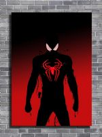SPIDER MAN - RED GLOW canvas print - self adhesive poster - photo print